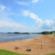 Beach near lake in Russia — Stock Photo #11811626