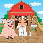 Farm Animal — Vector de stock