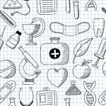 Medicine. Seamless texture — Stock Vector