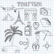 Tourism — Vector de stock #11778163