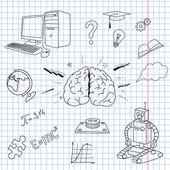 Brain objects — Stock Vector