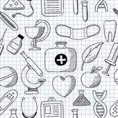 Medicine. Seamless texture — Stok Vektör