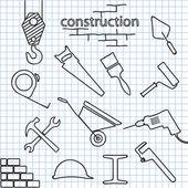 Строительство — Cтоковый вектор
