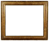 Vintage antique shabby gold picture frame — Stock Photo