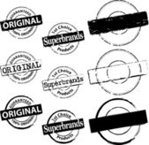 Rubber Stamp Original and Superbrand — Stock Vector