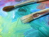 艺术家画笔 — 图库照片