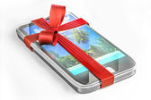Cell phone gift — Stock Photo
