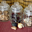 Three  preserving jars — Stock Photo