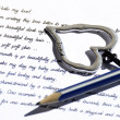 Stock Photo: Pen and paper