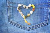 Coeur de jeans — Photo