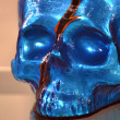 Stock Photo: Skull ornament blue
