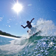 Stock Photo: Surf sliding