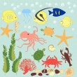 Royalty-Free Stock Vector Image: Vector set of sea animals