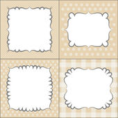 Set of retro frames, vector — Stock Vector