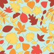 Royalty-Free Stock Vector Image: Colorful autumn leaves seamless pattern, vector
