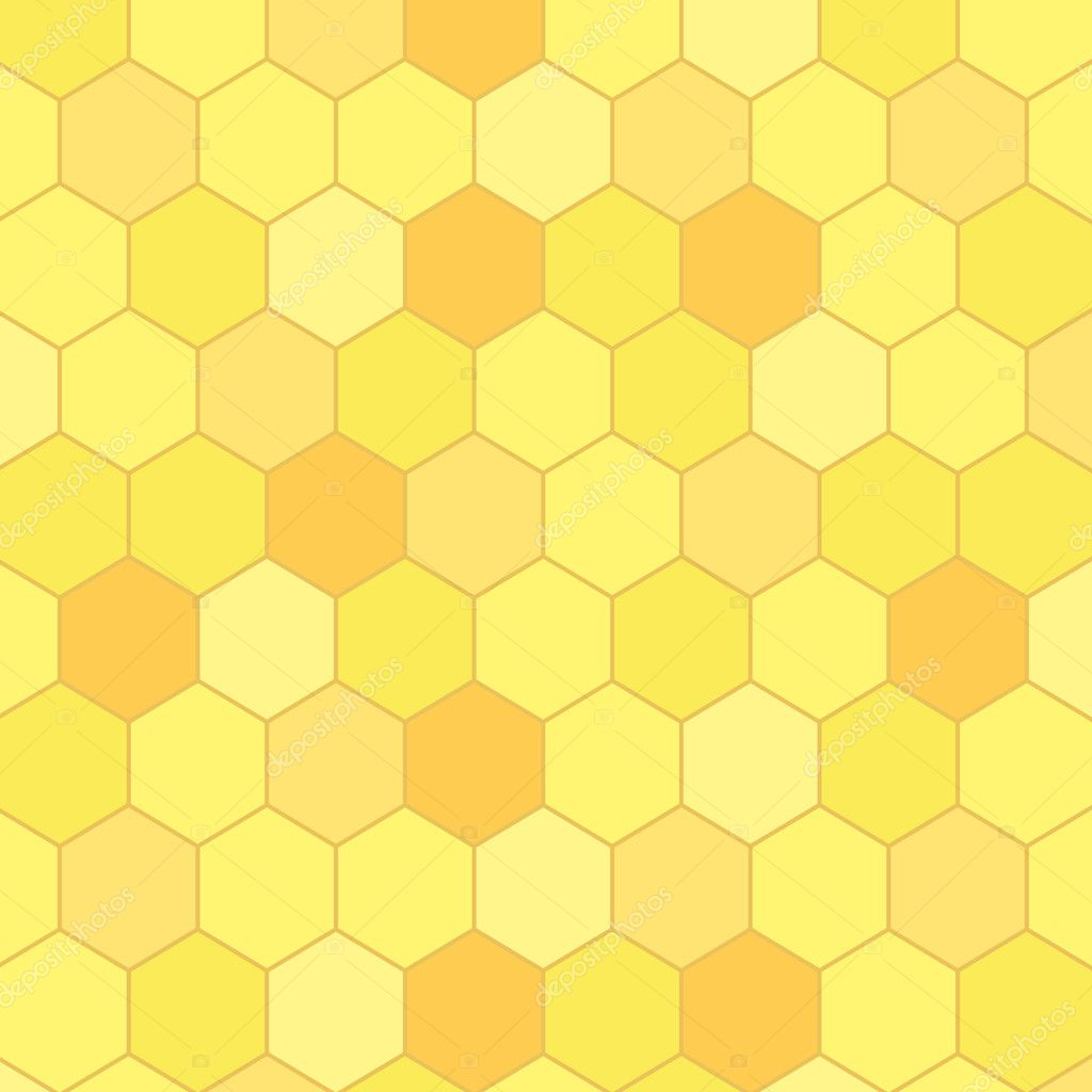 Honeycomb seamless background, vector  Imagens vectoriais em stock #11988300