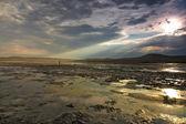 Chokrakskoe lake in Crimea. Chokrak. — Stock Photo