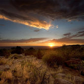 Desert Sunset in Albuquerque, New Mexico — Stock Photo
