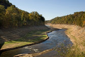 Little Tennessee River in drought — Stock Photo