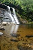 Idyllic forest waterfall — Stock Photo
