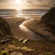 Beautiful sunset over Californibeach — Stock Photo #11708008
