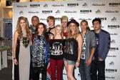 L-R) Singers Shannon Magrane, Jeremy Rosado, Skylar Laine, Erik — Stock Photo