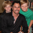Don Diamont, twin sons  Anton and Davis — Stock Photo