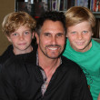 Don Diamont, twin sons Anton and Davis — Stock Photo #11682091