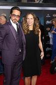 Robert Downey Jr., wife Susan Downey — Stock Photo