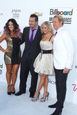 L-R) Lacey Schwimmer, singer Joey Fatone and dancers Anya Garnis and Carson Kressley — Stock Photo
