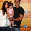 Courtney Mazza, Mario Lopez and their daughter — Stock Photo #11691576