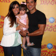 Courtney Mazza, Mario Lopez and their daughter — Stock Photo #11691585