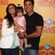 Courtney Mazza, Mario Lopez and their daughter — Stock Photo #11691601