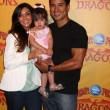 Stock Photo: Courtney Mazza, Mario Lopez and their daughter