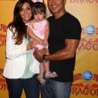 Courtney Mazza, Mario Lopez and their daughter — Stock Photo #11691644