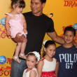 Stock Photo: Mario Lopez and daughter (in his arms), and his neices and nephew