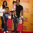 Stock Photo: Courtney Mazza, Mario Lopez and daughter (in his arms), and his neices and nephew