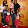 Courtney Mazza, Mario Lopez and daughter (in his arms), and his neices and nephew — Stock Photo #11691924