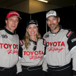 Visiting Alumni Racer William Fitchner, Current Racers Eileen Davidson and Eddie Cibrian — Stock Photo