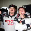 Current Racer, Kim Coates, visiting Alumni Racer William Fitchner — Stock Photo