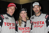 Visiting Alumni Racer William Fitchner, Current Racers Eileen Davidson and Eddie Cibrian — Stok fotoğraf