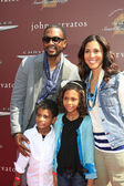 Bill Bellamy, wife Kristen, children — Stock Photo