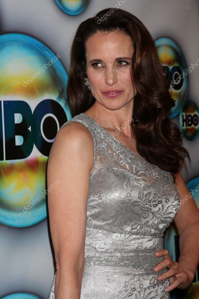 LOS ANGELES - JAN 15:  Andie MacDowell arrives at  the HBO Golden Globe Party 2012 at Beverly Hilton Hotel on January 15, 2012 in Beverly Hills, CA  Stock Photo #11704869