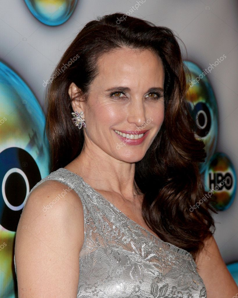 LOS ANGELES - JAN 15:  Andie MacDowell arrives at  the HBO Golden Globe Party 2012 at Beverly Hilton Hotel on January 15, 2012 in Beverly Hills, CA  Stock Photo #11704876