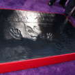 Michael Jackson Hand and Footprints, and his children's handprints — Stock Photo #11712439