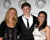 Donna Eversman (mom), Nick Eversman, & Wife Emily Emersman — Stock fotografie