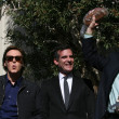 Paul McCartney, Eric Garcetti, Tom LeBonge — Stock Photo