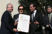 Tom LeBonge, Paul McCartney, Eric Garcetti — Stock Photo
