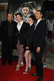 Producer Joe Roth, actors Sam Claflin and Kristen Stewart and di — Stock Photo
