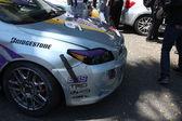 Eddie Cibrian's car post crash after race — Stok fotoğraf